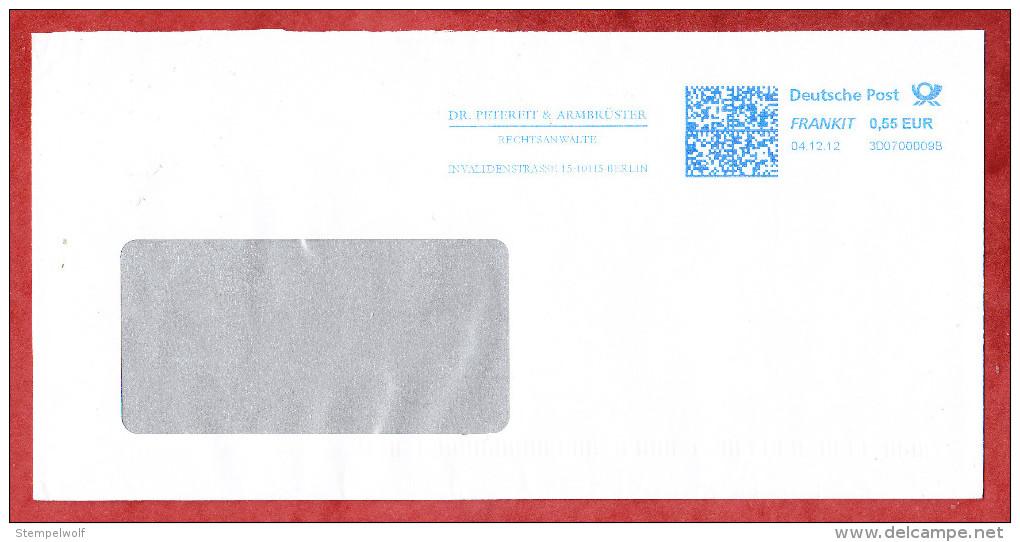 Brief, FRANKIT Francotyp-Postalia 3D070.., Dr Petereit & Armbruester Berlin, 55 C, 2012 (75943) - Covers & Documents