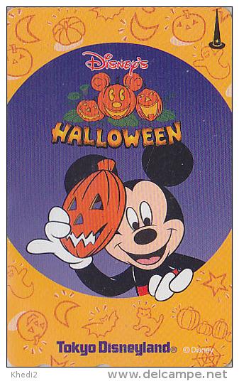 Télécarte NEUVE Japon / 110-208475 - DISNEY HALLOWEEN 2004 - DISNEYLAND Japan MINT Phonecard Bat Chat Cat - Disney