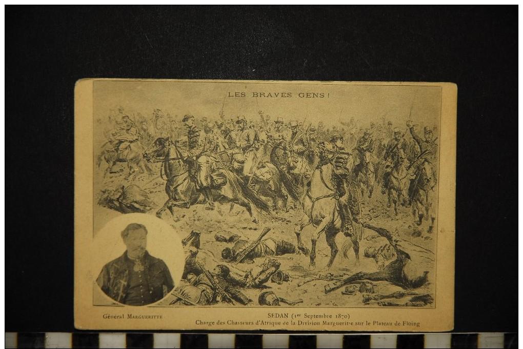 CP, HISTOIRE SEDAN (1er Septembre 1870) Charge Des Chasseurs D'Afrique De La Division Marguerite Voyagé - Histoire