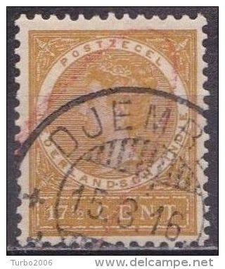 Ned. Indië: DJEMBER Op 1903-08 Koningin Wilhelmina 17½  Cent Bruingeel NVPH 51 - Indes Néerlandaises