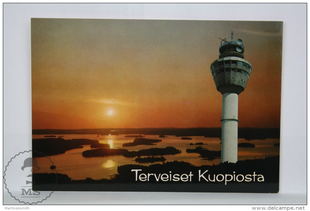 Vintage Finland Postcard - Greetings From Kuopio - Finlandia