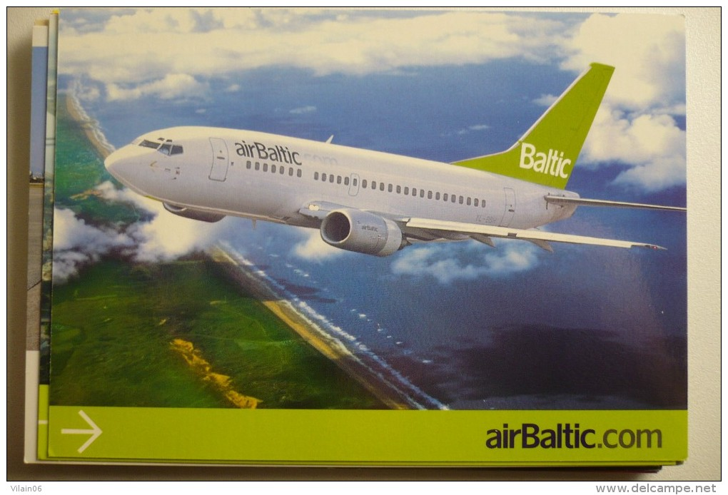 AIRLINES ISSUE / CARTE COMPAGNIE       AIR BALTIC   B 737 - 1946-....: Ere Moderne