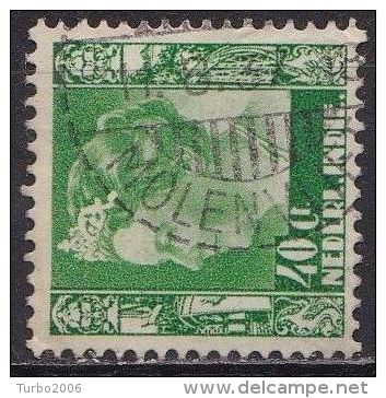 Ned. Indië: BATAVIA MOLENVLIET Op 1934-37 Koningin Wilhelmina 40 Ct Lichtgroen NVPH 203 - Indes Néerlandaises