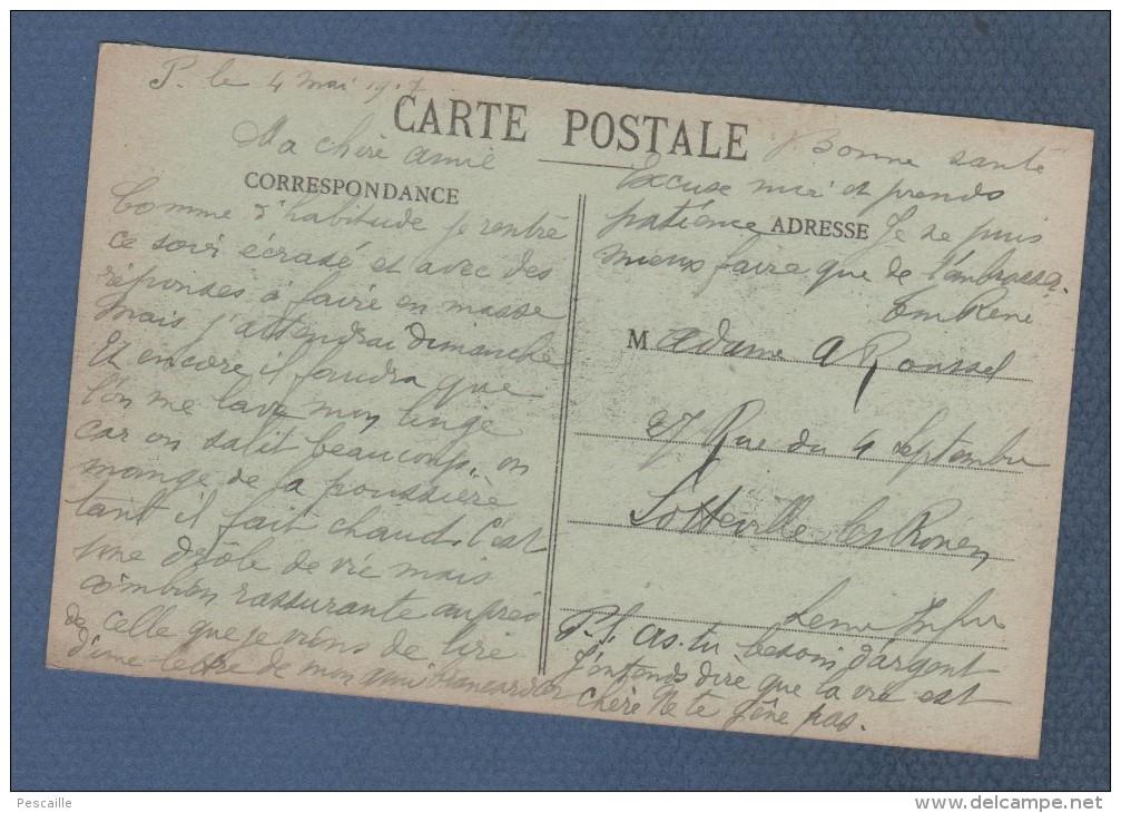 51 MARNE - CP CUMIERES ( CHAMPAGNE ) - VUE GENERALE - SUISSE LETE EDITEUR N°2 - ECRITE 1917 MILITAIRE - Francia