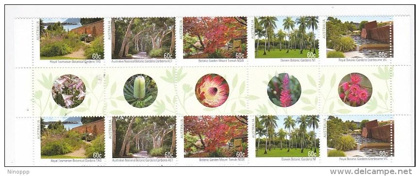 Australia 2013 Australian Botanic Gardens Gutter Strip MNH - 2010-... Elizabeth II