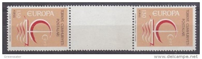 Europa Cept 1966 Turkey 130K (wrong Colour) Gutter ** Mnh (20651) - 1966