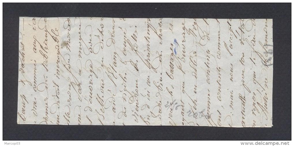 INDRE 35 Arthon Cursive + N° 4 Oblitéré Grille Sur Devant De Lettre TTB - Marcophilie (Lettres)