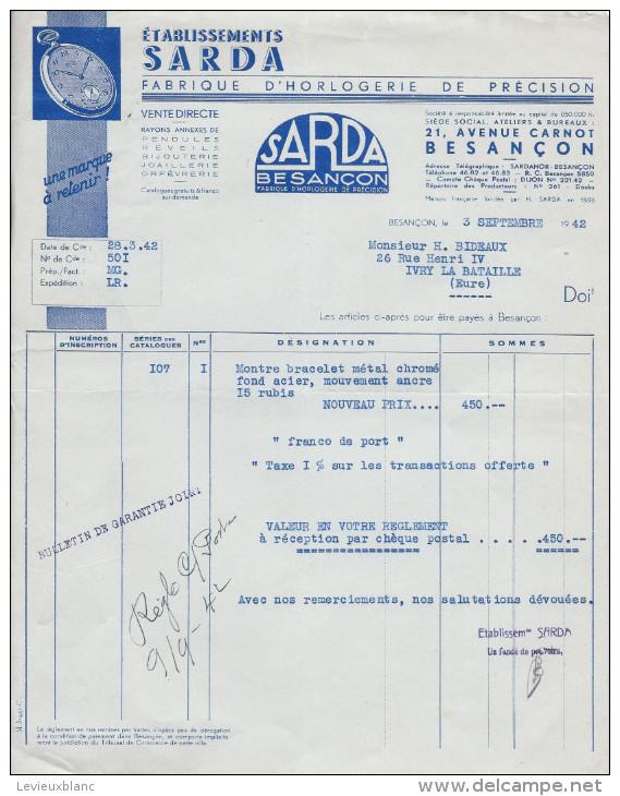Facture/Agriculture/ Sylviculture/A. BAUCHERY & Ses Fils/ CROUY/Loir & Cher /1942      FACT70 - Agriculture