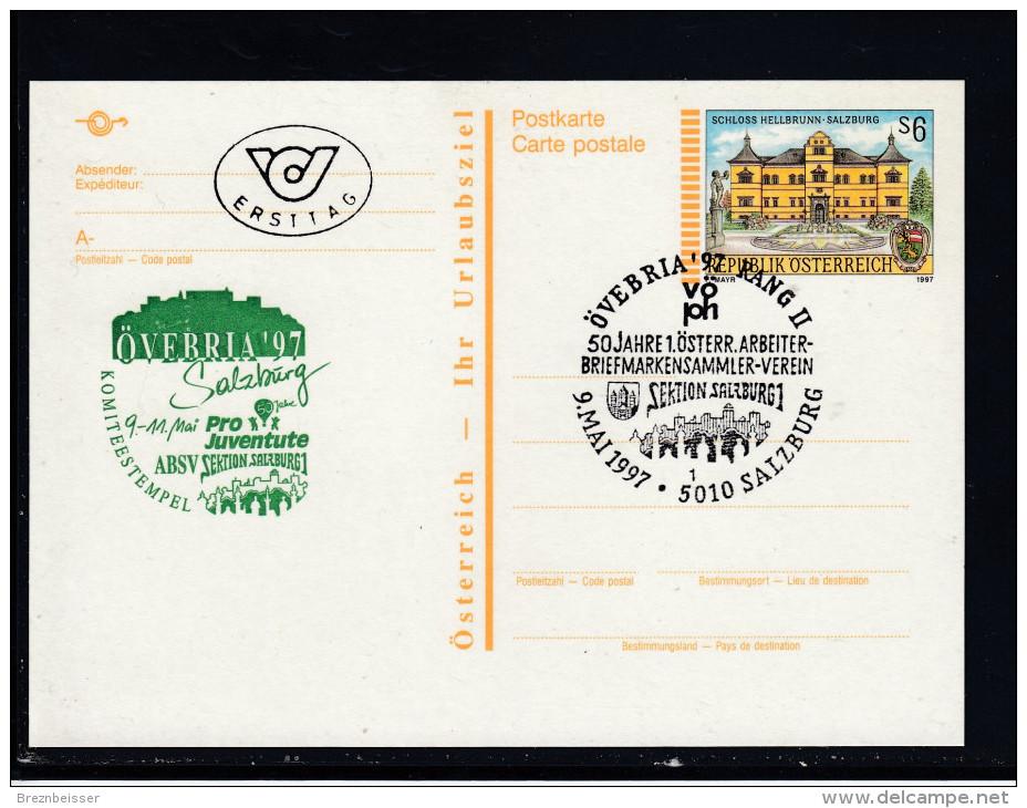Ganzsache MiNr. P537 V. Ersttag  So-Stpl Salzburg ÖVEBRIA 97    (2) - Ganzsachen