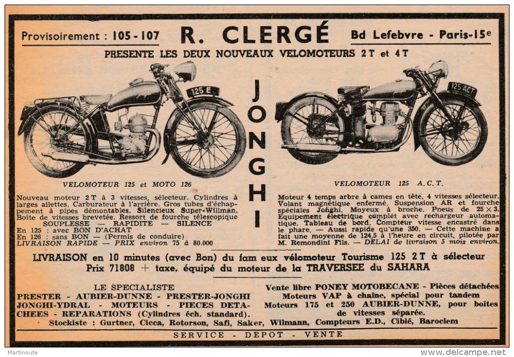 - Ancienne PUBLICITE  Pour Vélomoteurs Et Motos - 016 - Motos