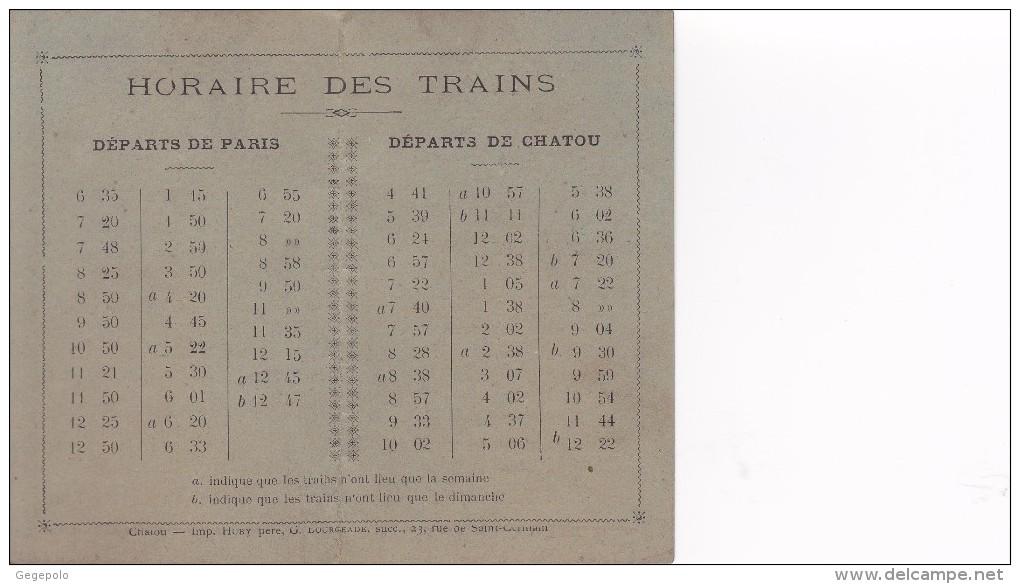 78 - CHATOU ( France )  - HORAIRE DES TRAINS  ( 12,2 Cm X 10 Cm ) - Europe