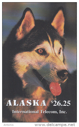 ALASKA(chip) - Alaskan Sled Dogs/Quiet Husky($26.25), Tirage 1500, 12/95, Mint - Schede Telefoniche