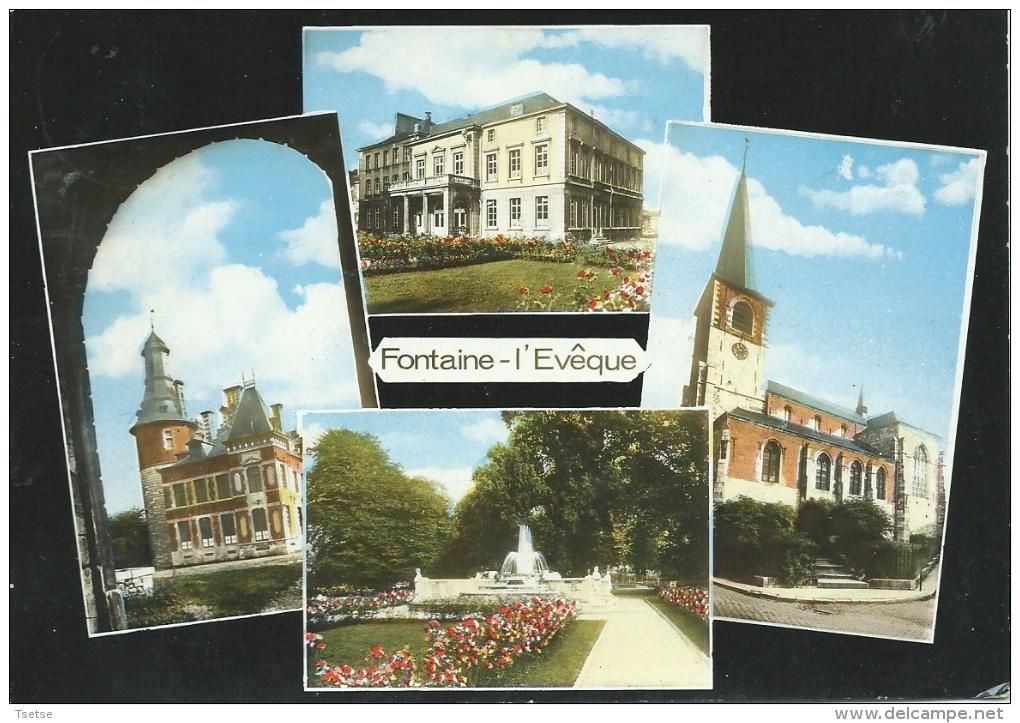 Fontaine-l´Evêque - Jolie Carte Montrant 4 Vues De La Commune - 1955 - Fontaine-l'Evêque