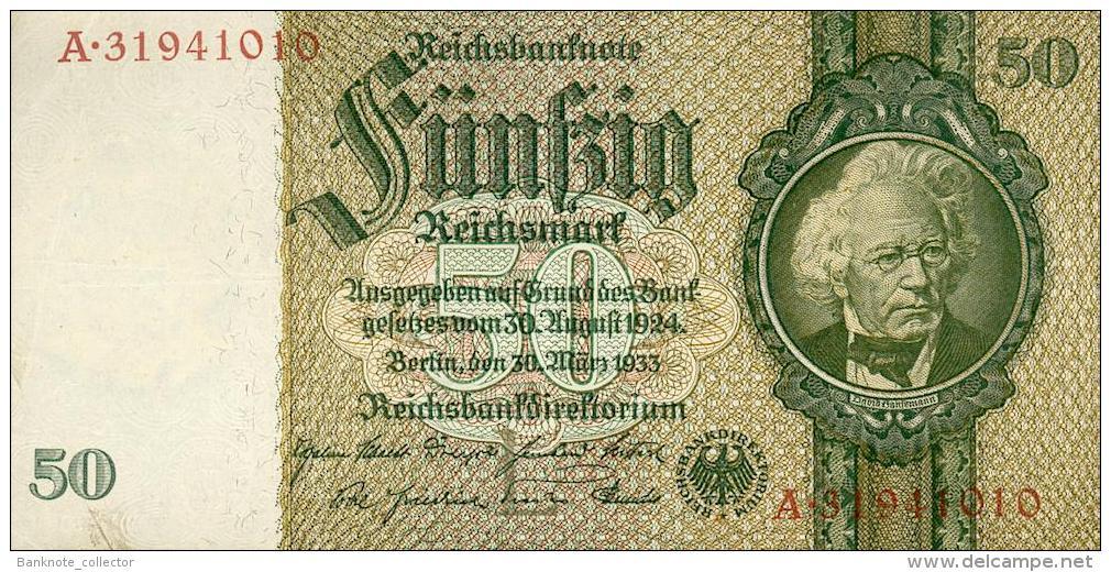 Deutschland, Germany - 50 Mark, Reichsbanknote, Ro. 175 C ,  ( Serie L/A  ) , 1934 ! - [ 4] 1933-1945 : Terzo  Reich