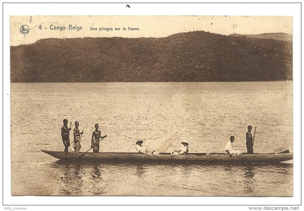 CPA - Afrique - CONGO BELGE - Une Pirogue Sur Le Fleuve  // - Belgisch-Congo - Varia