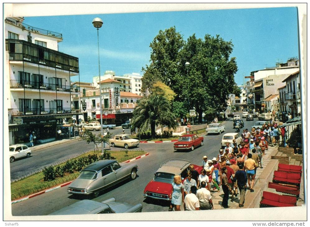 Citroën DS Convertible At Costa Del Sol C. 1960 Colour Postcard - Turismo