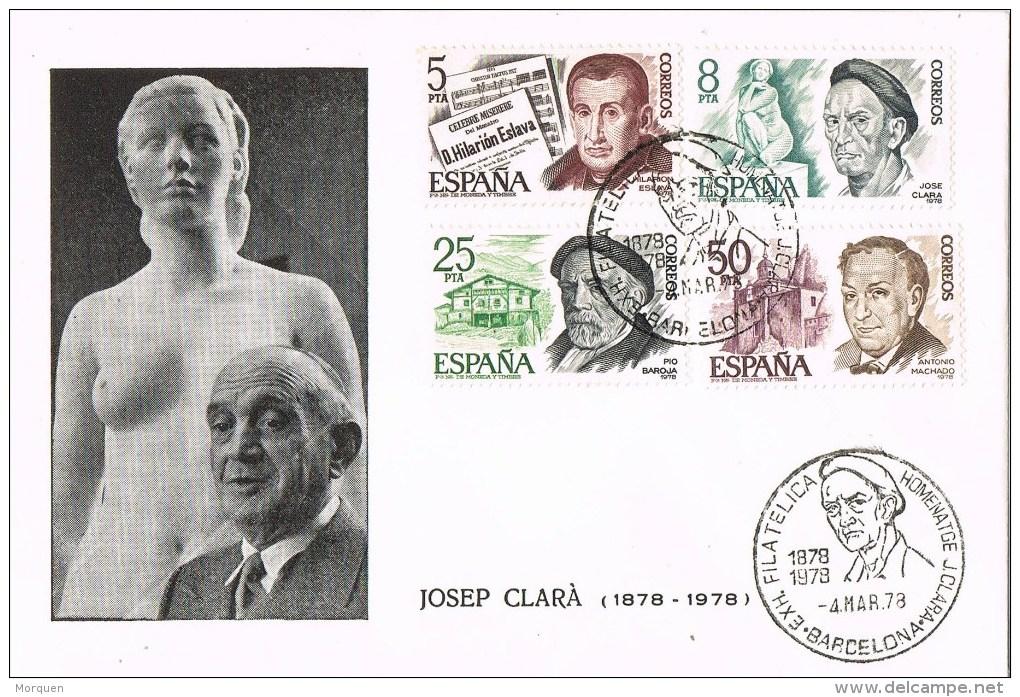 12333. Carta BARCELONA 1978. Josep Clará, Personajes - 1931-Hoy: 2ª República - ... Juan Carlos I