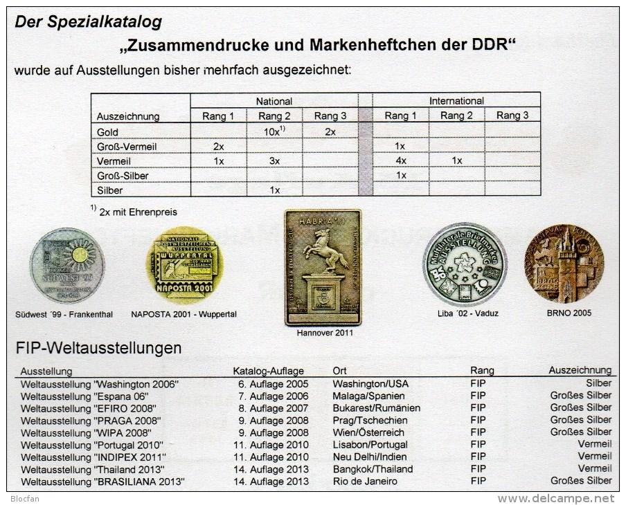 1-4 Zusammendrucke Markenhefte+Abarten Katalog DDR 2015 New 100€ RICHTER Se-tenant Booklet Special Catalogues Of Germany - Boeken, Tijdschriften, Stripverhalen