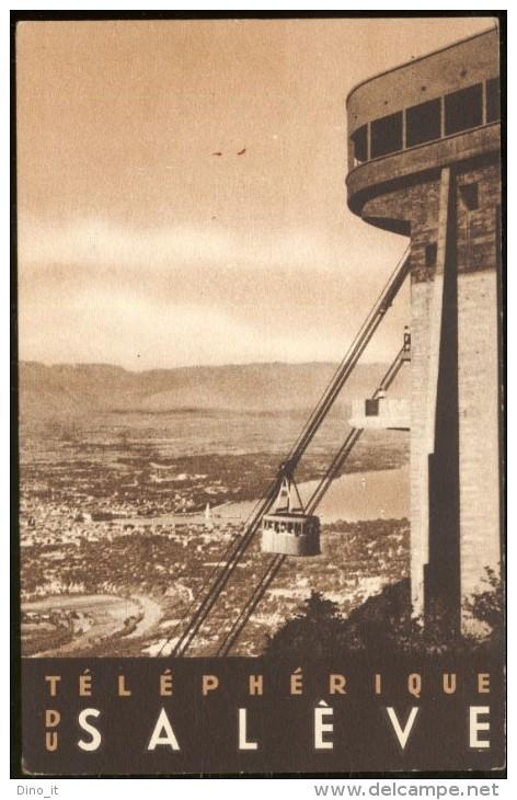 TELEPHÉRIQUE DU SALÈVE - Carte Postale Publicitaire. - Veyrier