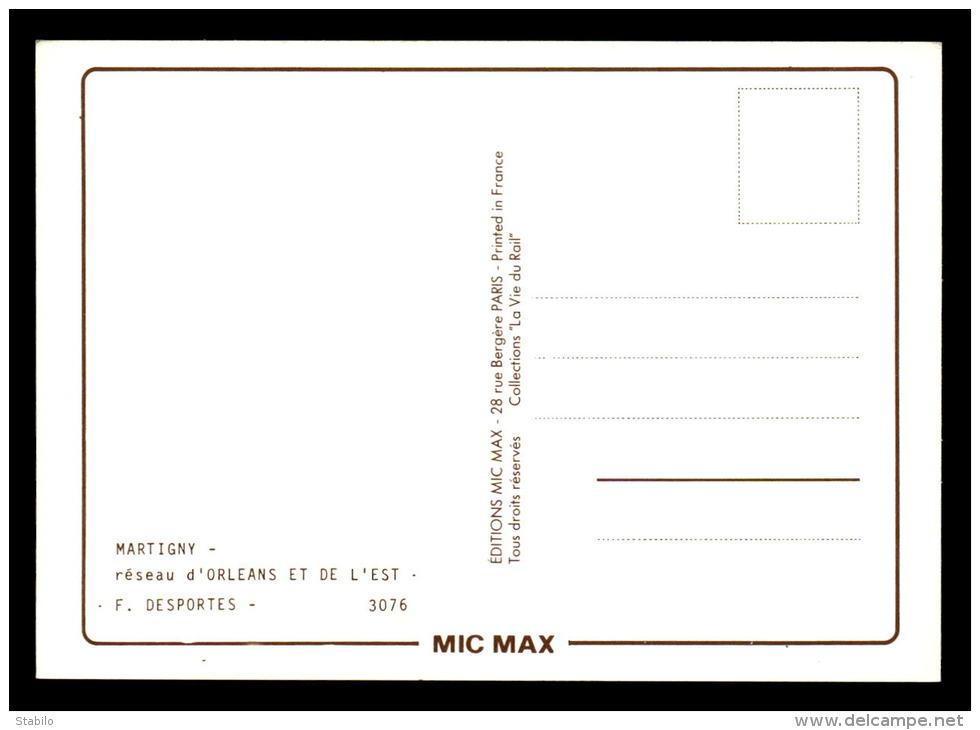 """PUBLICITE - ILLUSTRATEURS - DESPORTES - MARTIGNY - EDITIONS MIC MAX N°3076 COLLECTION """"LA VIE DU RAIL"""" - Advertising"""