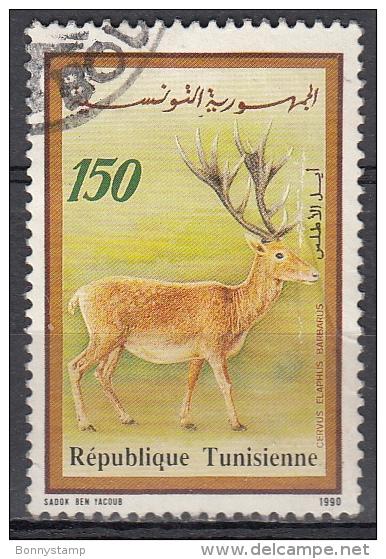 Tunisia, 1990 -  150m Cervus Elaphus Barbarus - Nr.985 Usato° - Francobolli