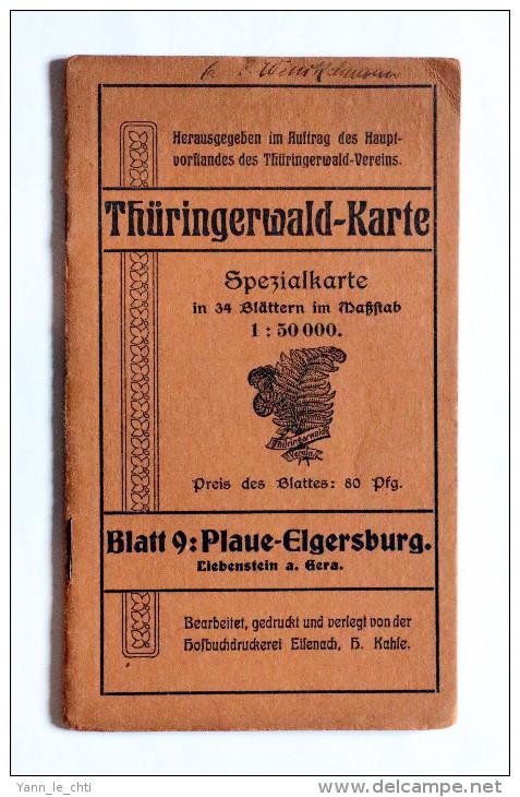 THURINGERWALD - KARTE   BLATT 9 : PLAUE - ELGERSBURG - Mapas