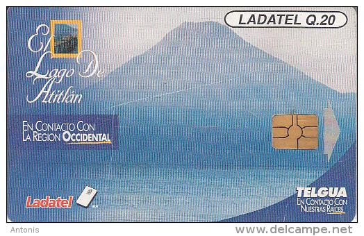 GUATEMALA - Volcano, El Lago De Atitlan, Chip GEM 3.1, Used - Volcanos