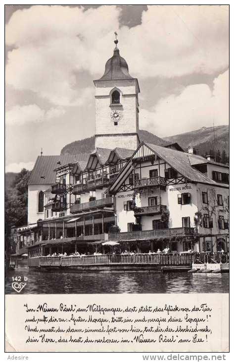 ST.WOLFGANG - Weißes Rößl, Fotokarte Gel.195?, 1,45 ÖS Trachtenmarke - St. Wolfgang
