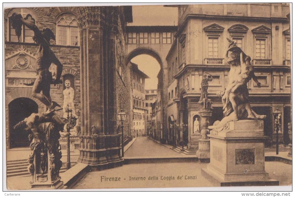 ITALIE,ITALIA,FLORENCE EN 1916,FIRENZE,FLORENZ,TOSCANE,TOSCANA,interno Della Loggia De Canzi,renaissance - Firenze (Florence)