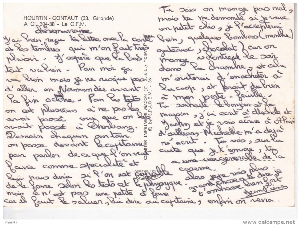 HOURTIN (33-Gironde), Caserne, Centre De Formation Maritime, C.F.M., Ed. Combier - France