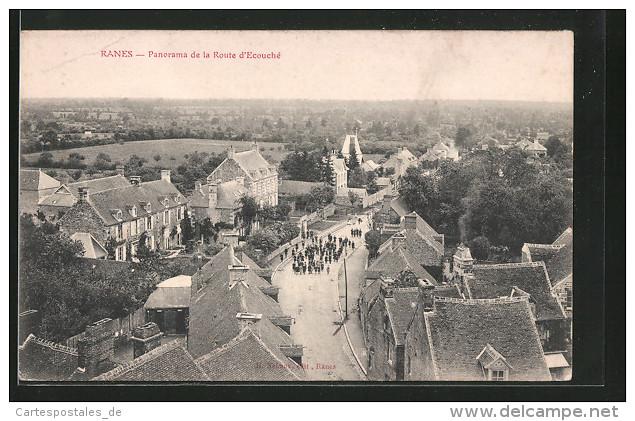 CPA Ranes, Vue Générale De La Route D'Ecouché - France