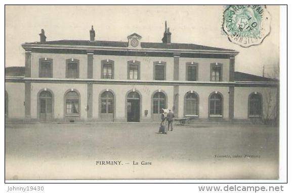 FIRMINY - LA GARE  ( Animées  ) - Firminy
