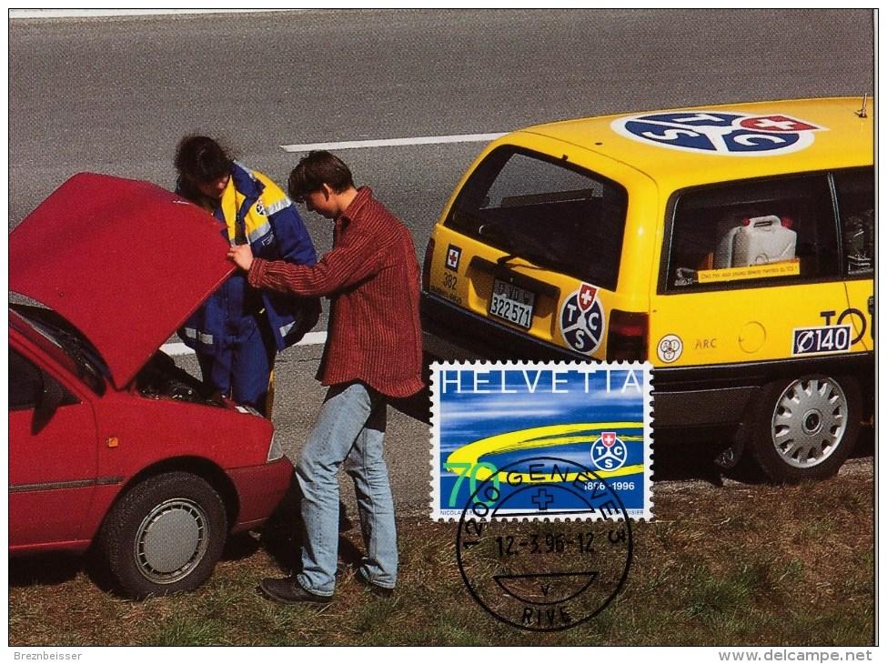 Schweiz MiNr. 1572   TCS 100 Jahre Touring Club D. Schweiz Maximumkarte - Maximumkarten (MC)