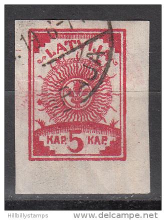 Latvia     Scott No 10  Used    Year  1919 - Lettland