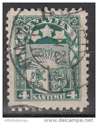 Latvia     Scott No   115   Used    Year  1923 - Lettland