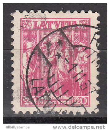 Latvia     Scott No   177   Used    Year  1934 - Lettland