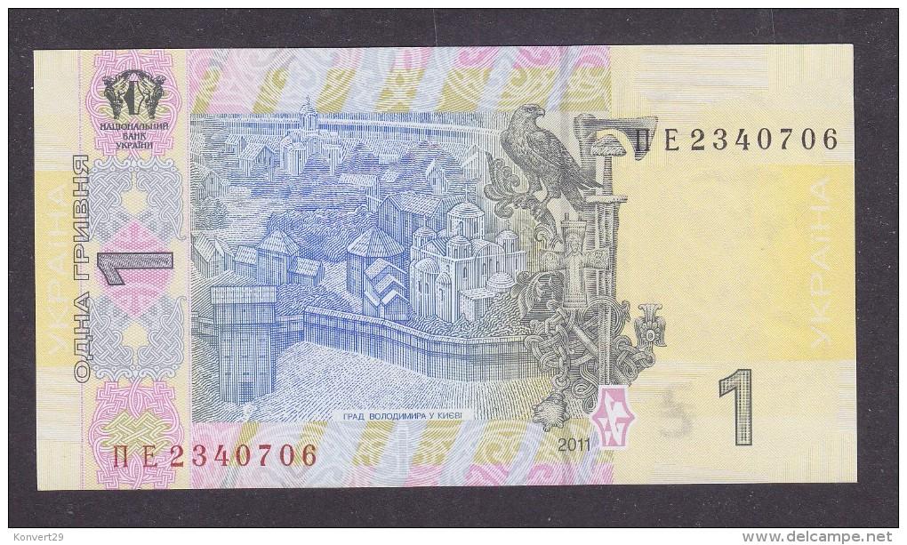 UKRAINE. 2011. 1 Hryvnia. Signature: S. Arbuzov. UNC. - Ukraine