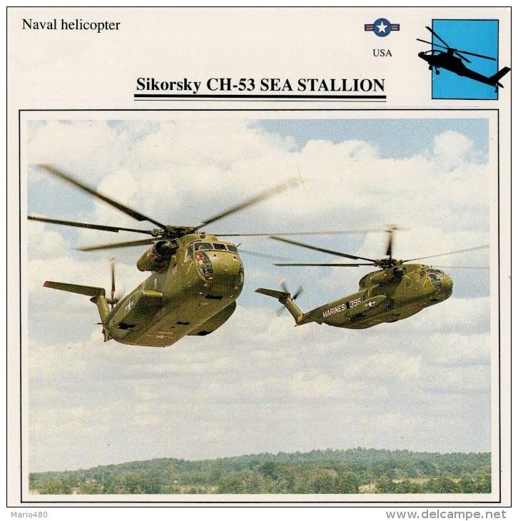SIKORSKY  CH-53  SEA  STALLION     2 SCAN   (NUOVO CON DESCRIZIONE E SCHEDA TECNICA) - Elicotteri