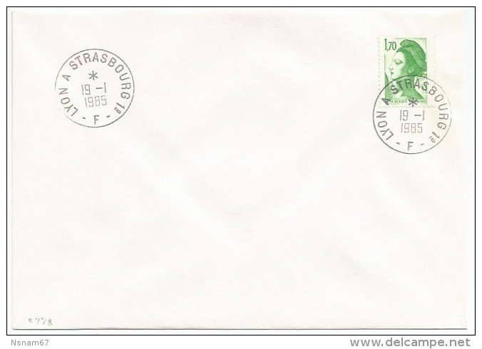 R778 - Ambulant ALSACE - LYON A STRASBOURG 1° F - 1985 - - Marcophilie (Lettres)