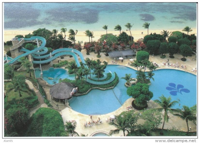 Saipan Northern Marianas Islands, Hotel Nikko Pool And Giant Water Slide View, C1990s/2000s Vintage Postcard - Marianen