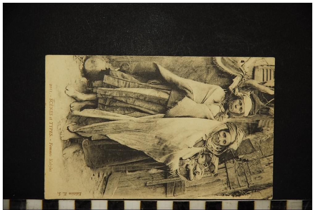CP, ALGERIE Scènes & Types Femmes Kabyles N° 2011 Voyagé En 1916 Ed E S - Scènes & Types