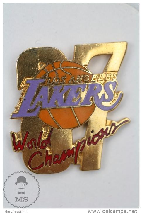 USA Basketball Team - Los Angeles Lakers 1987 World Champions - Pin Badge #PLS - Baloncesto