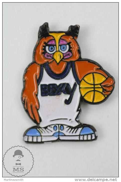 BEXY Owl Mascot Basketball Team - Pin Badge #PLS - Baloncesto