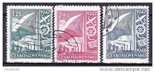 Tchécoslovaquie 1947 Mi 512-4 (Yv 440-2), Obliteré - Used Stamps