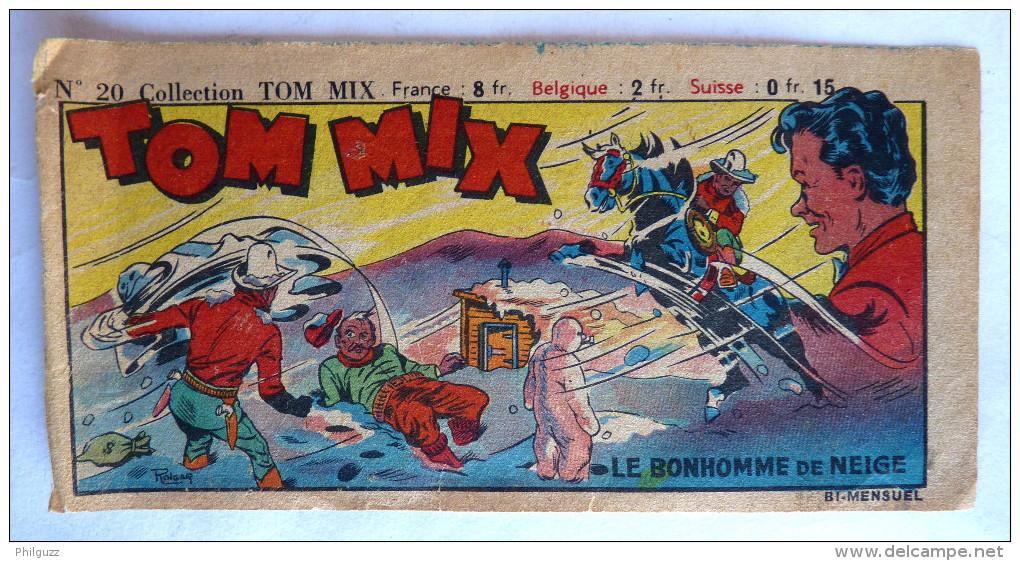 RARE Couverture Du RECIT COMPLET - TOM MIX N°20  1948 éditions Mondiales Incomplet Seulement La Couverture - Sonstige