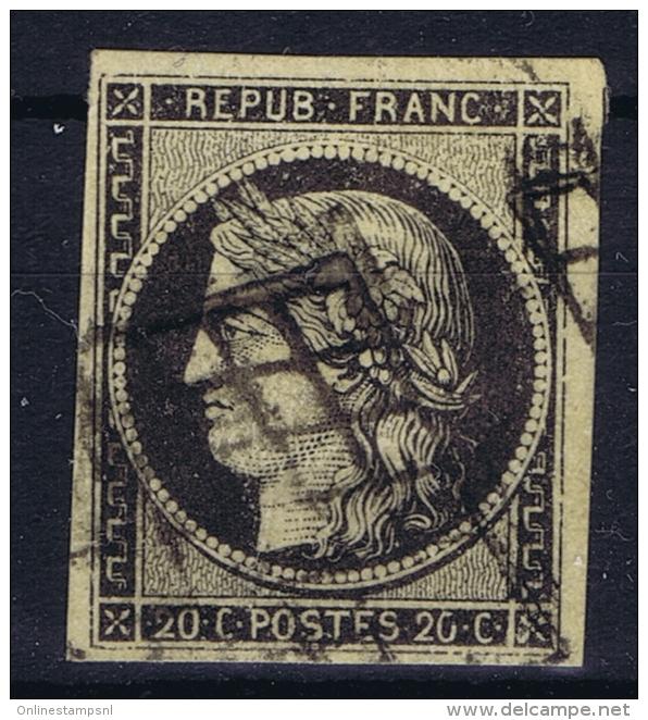 France: 1849 Yv Nr 3 Used Obl  Chamois - 1849-1850 Cérès