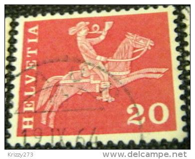Switzerland 1960 19th Century Mounted Postman 20c - Used - Switzerland