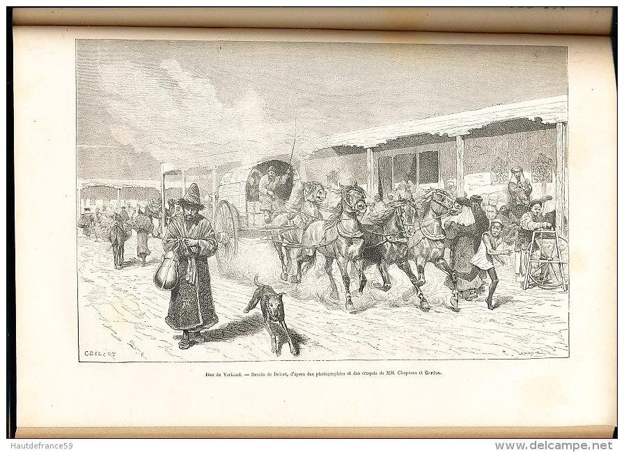 Libro 413 Pages  1878 LE TOUR DU MONDE GRECE RUSSIE PEROU BOLIVIE ZANGUEBAR CACHEMIRE  CANADA  ANNAM COCHINCHINE KACHGAR - Biographie