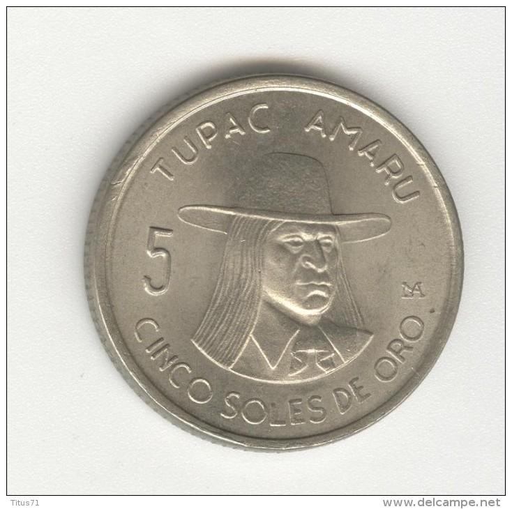 5 Soles De Oro -  Perou / Peru - Tupac Amaru - 1972 - Pérou