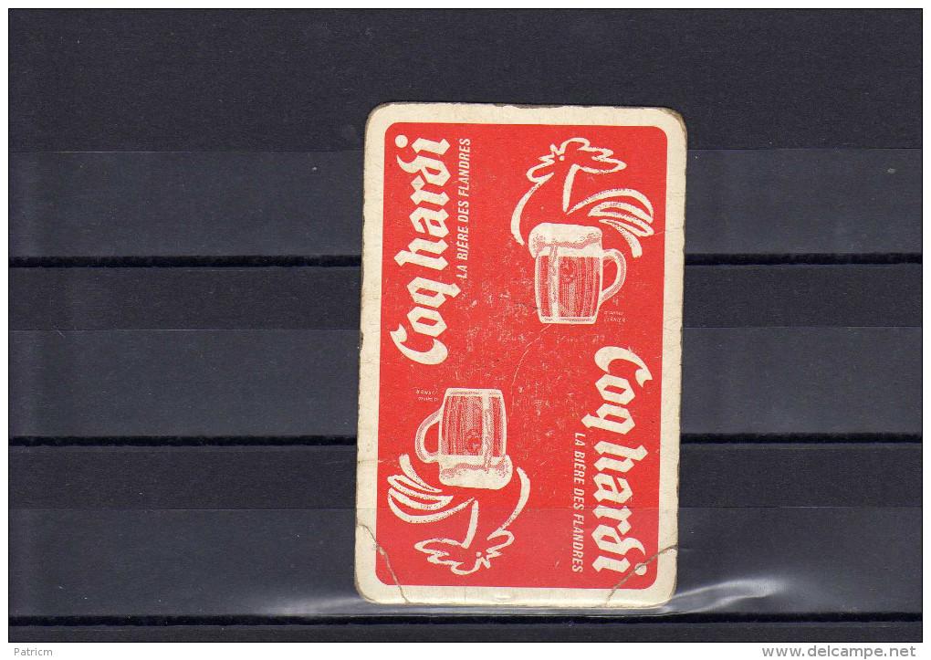 Dos D´une Carte à Jouer De La Brasserie Coq Hardi - Cartes à Jouer